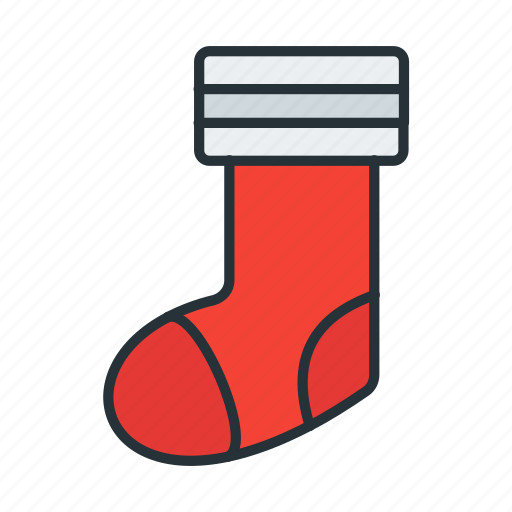 celebration, christmas, decoration, gift, santa, socks icon