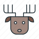 celebration, christmas, claus, deer, holiday, santa, xmas icon