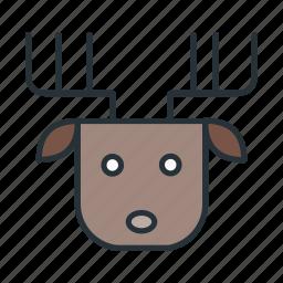 celebration, christmas, claus, deer, holiday, santa, xmas icon