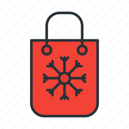 bag, cart, christmas, holiday, shopping, winter icon