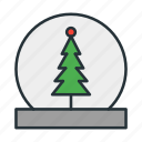 celebration, christmas, dome, holiday, snow, snowdome, xmas icon