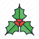 celebration, christmas, holiday, holly, winter, xmas icon