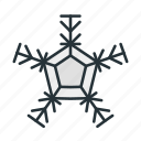 celebration, christmas, flake, holiday, snow, snowflake, winter icon
