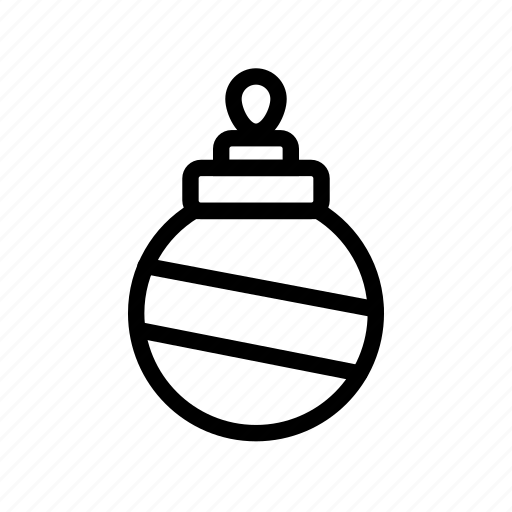 bauble, bulb, christmas, decoration, light, winter, xmas icon