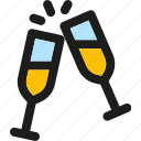 alcohol, beverage, champagne, drink, food, glass, restaurant icon