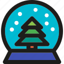 christmas, decoration, globe, holiday, snow, winter, xmas icon