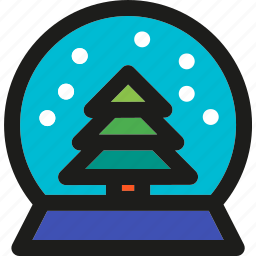 christmas, decoration, globe, holiday, snow, winter, xmas icon