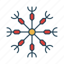 cold, nature, snow, snowflakes, weather icon