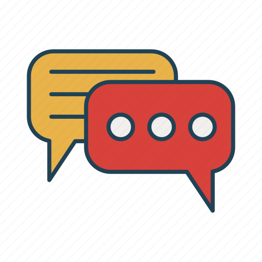 chat, conversation, message, talk, text icon