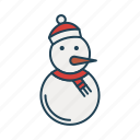 cold, human, ice, snowman, winter icon