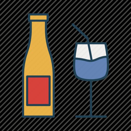 bottle, drink, glass, milk, water icon