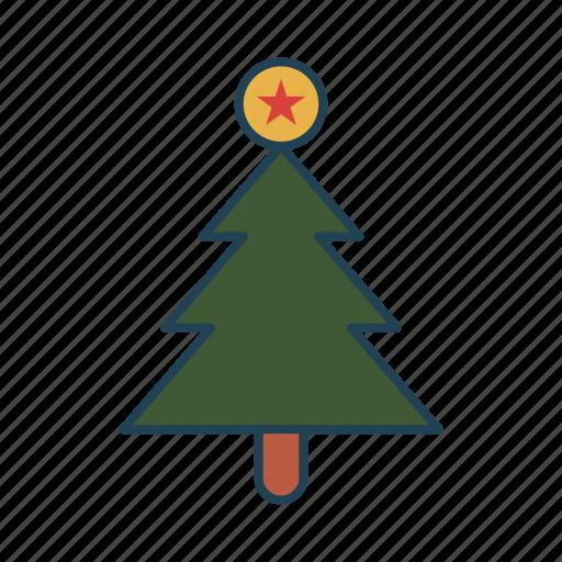 christmas tree, decoration, holiday, party, tree icon