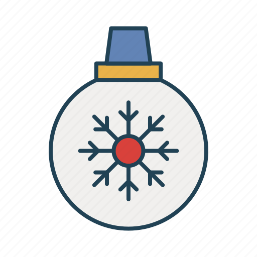 bauble, decoration, gift, holiday, party icon