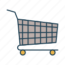 sail, sell, shopping, shopping cart, trolley icon
