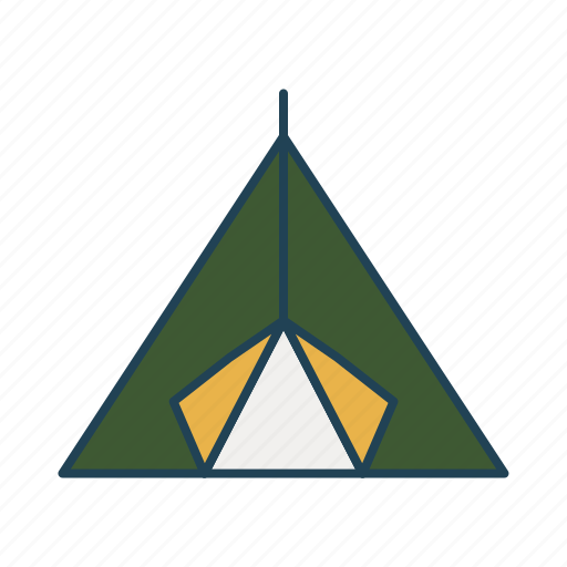 camping, forest, holidays, nature, tent icon