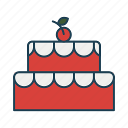 bakery, birthday cake, food, party, sweet icon