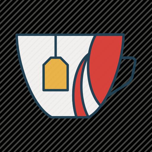 coffee, cup, drink, tea, tea bag icon