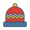 cap, cold, new year, winter, xmas icon