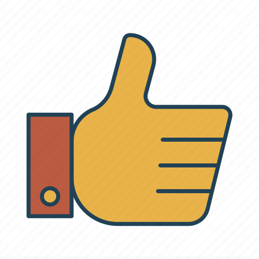 excellent, gesture, good, like, thumbs up icon