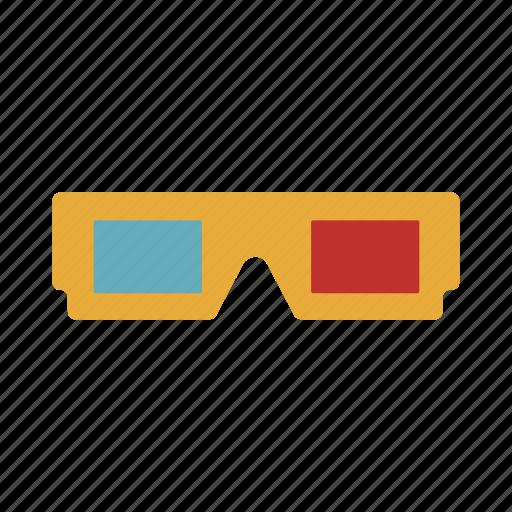 camera, cinema, film, glasses, lens, movie, video icon