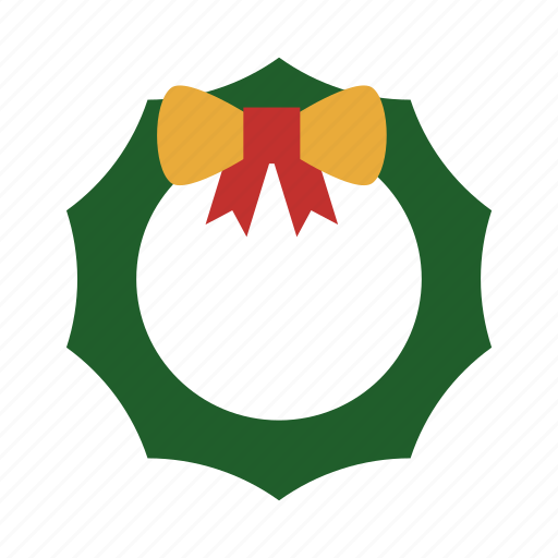 badge, christmas, christmas flower, gift, ribbon icon