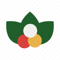 christmas, decoration, flower, mistletoe, nature, ornament icon