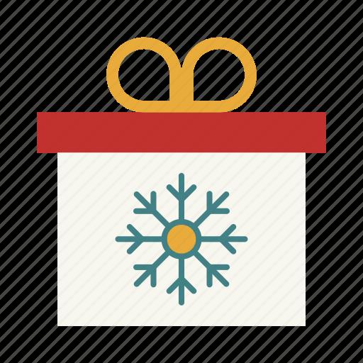 christmas, gift, present, snowflake, surprise, year icon