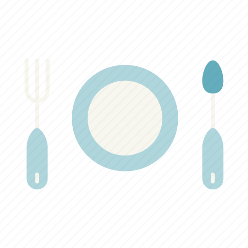 cook, cooking, fork, plate, restaurant, spoon, utensils icon