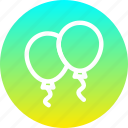 balloon, celebrate, celebration, festival, fun, merry, new year icon