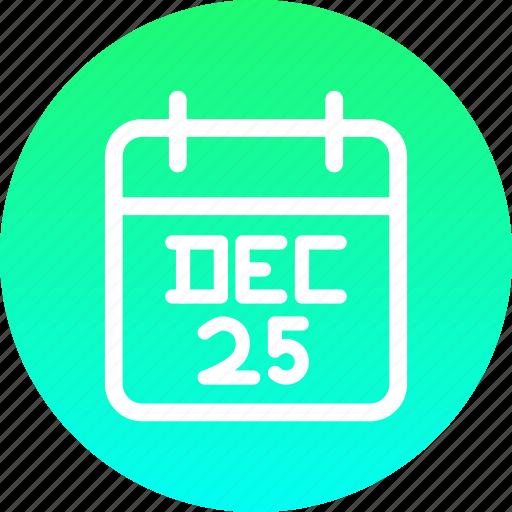 calendar, christmas, date, december, festival, new year icon