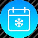 calendar, christmas, date, december, festival icon