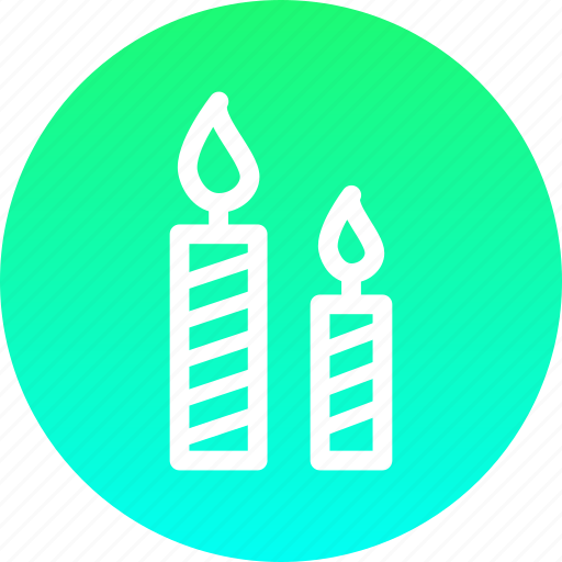 bright, candle, christmas, holy, light, new year, shine icon