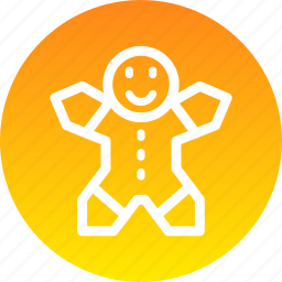 christmas, cookie, ginger icon