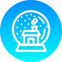 ball, christmas, crystal, gift, house, new year, snow icon