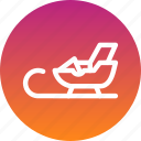 christmas, gift, gifts, santa, sledge icon