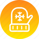 christmas, cold, gloves, winter, xmas icon