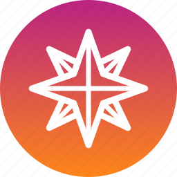 christmas, new year, northern, pole, star icon