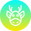 animal, christmas, claus, deer, new year, rein, santa icon