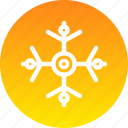 christmas, decoration, new year, snow, snowflake, winter icon