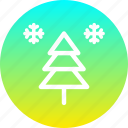 christmas, new year, snow, snowfall, tree, winter icon