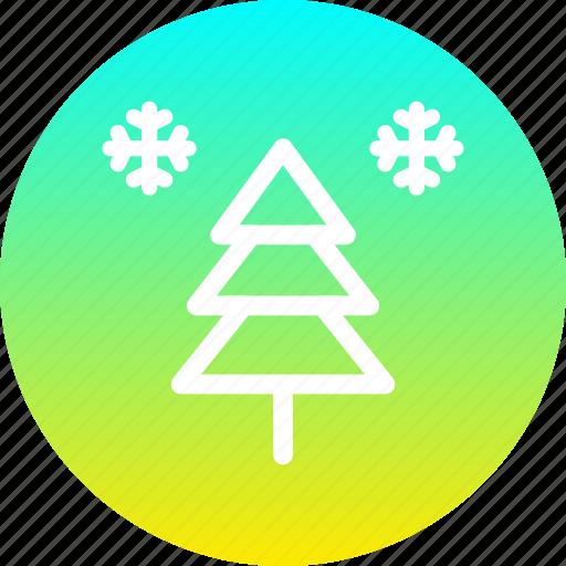 christmas, new year, snow, snowfall, tree, winter icon