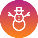 christmas, new year, snow, snowman, winter icon