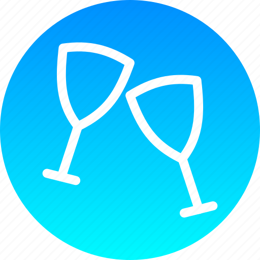 alcohol, christmas, drink, glass, new year, party, wine icon