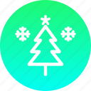 christmas, decoration, new year, snow, star, tree, winter icon