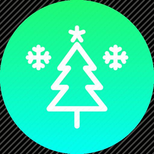 christmas, decoration, new year, snow, star, tree, winter icon