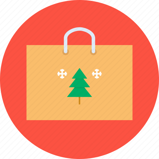 bag, christmas, festival, new year, purchase, shopping, winter icon