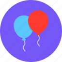 balloon, celebrate, celebration, festival, new year icon