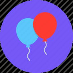 balloon, celebrate, celebration, festival, new year icon
