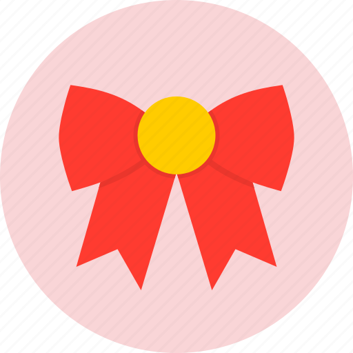 bow, christmas, new year icon