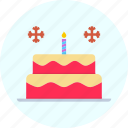 cake, candle, celebrate, christmas, new year icon